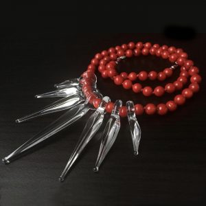 Glass Necklace with Red Beads | Smokin Smittys | Bozeman, Billings, Butte, MT